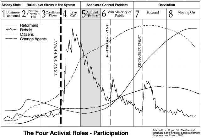 The four roles of activism - participation